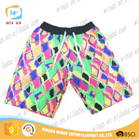 Custom print booty 100% polyester cargo 4-way stretch shorts