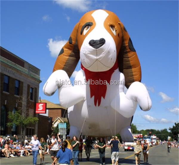 PVC inflatable Puppy Dog Balloon/inflatable Flying Dog/inflatable animals for advertising