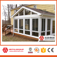 Aluminium free standing sun rooms/prefabricated glass house/glass garden room