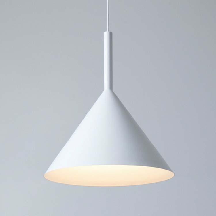 Pendant lamp white black aluminum triangle cone lampshade pendant lamp shadeg aloadofball Images