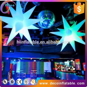 Hanging inflatable led lighting inflatable star,inflatable party decoration star