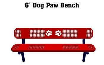 Dog Park Furnishings:Basic Dog Paw Bench
