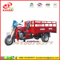 KAVAKI Factory direct sales bigest capacity 200cc Red Cargo 2.2m Three wheel motorcyle double rear wheeler 5 wheel motorcycle