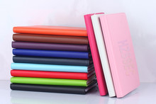 Candy colors Litchi grain lea folding leather portfolio case rotating stand tablet cover case for ipad air 3