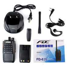 New Black Professional FM Transceiver FDC FD-830 UHF 400-470MHz 16CH 5W Scan VOX Emergency Alarm Rain-proof IP54 Walkie Talkie