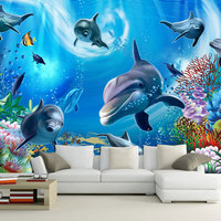 Chinese custom waterproof 3d wall paper mural wallpaper
