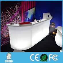 Modern glowing nightclub furniture high end straight Led drink bar counters