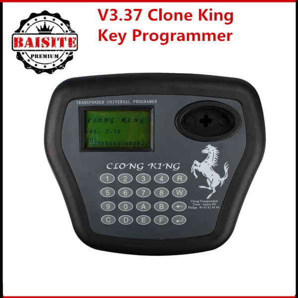 Super Transponder Chip Clone King 4D Auto Key Programmer Key Copy Car Key Maker with latest version