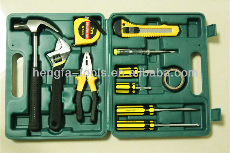 12pcs Combination hardware hand tool kits for home & car repair use