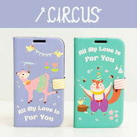 Circus_Happymori Design Flip Phone Cover Case for Apple iPhone 6 (Made in Korea)