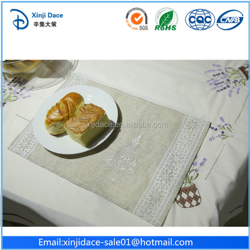 #029 Crochet best quality new product eco-friendly vinyl lace placemats