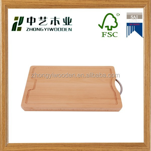 2015 china supplier sale SA8000&FSC&ISO9001 food safety grade rubber wooden cutting board for cheap wholesale