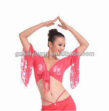 2012 hot selling belly dancing top,belly dance lace top