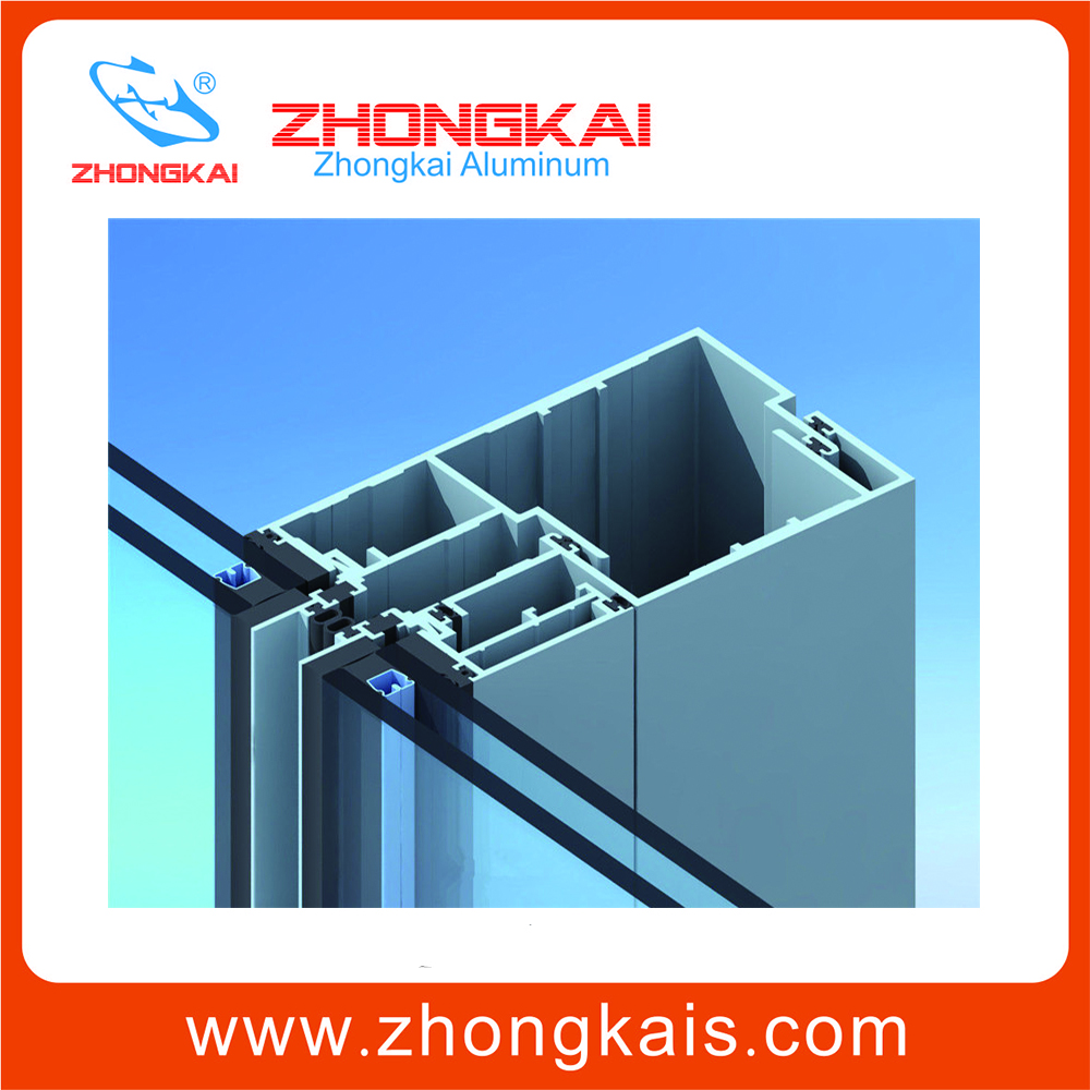 Building material extrusion aluminum wall framing materials