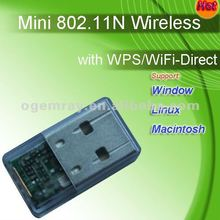IP equip FCC.CE. RT 5370 WPS Embedded IEEE802.11N WIFI Mini Dongle (Wi-Fi direct)