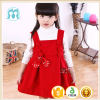 Christmas red flower baby girl vest dress new style baby girl wool dress for 2-6years old