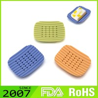 Hot Sell Rohs Certified Custom-Tailor Foldable Silicone Hotel Baby Unique Soap Dish