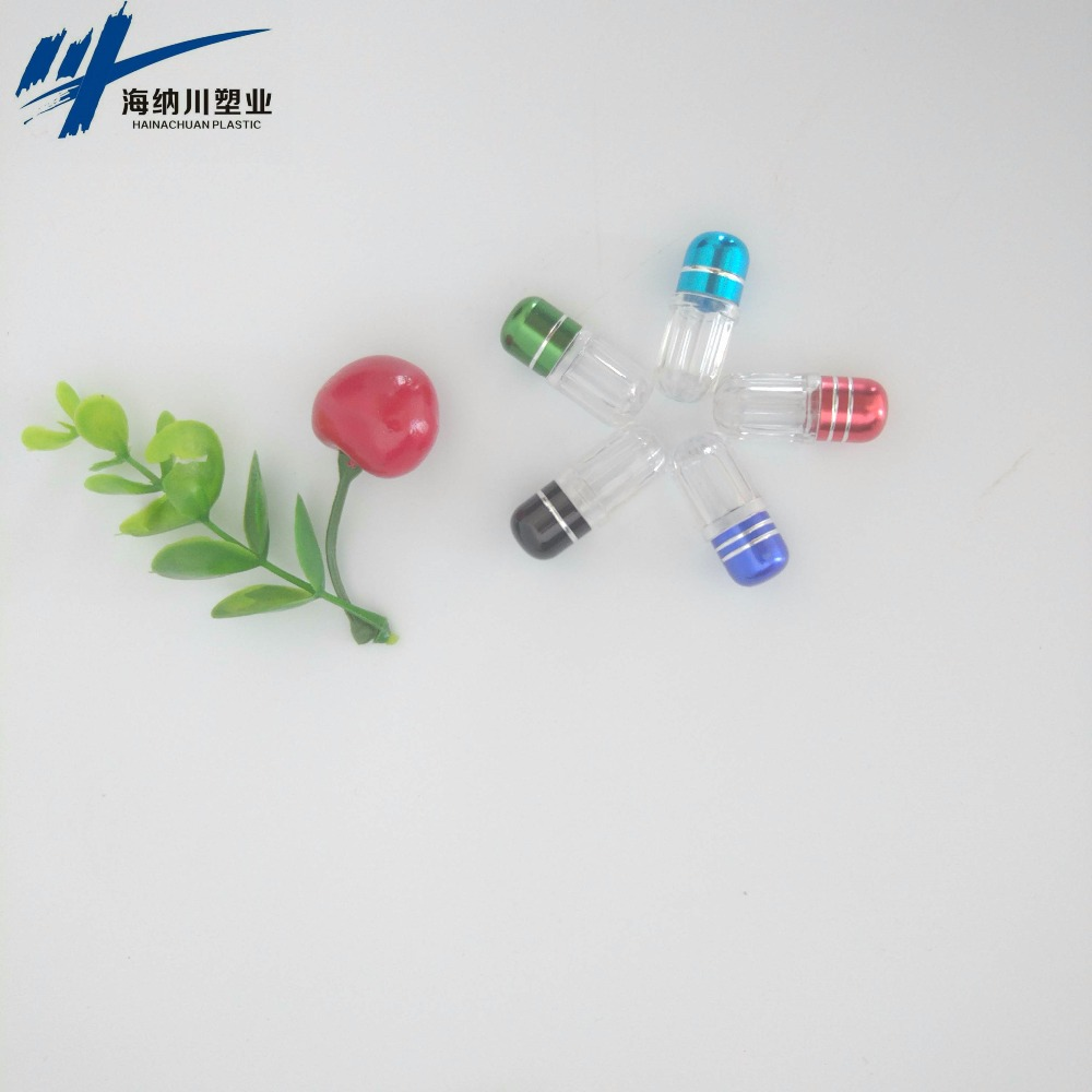 bullet container with metal cap/Acrylic capsule plastic bottle