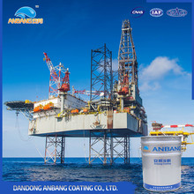 Strong corrosive environment metal surface protecting fluorocarbon marine paint