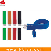 Silicone usb wristband bracelet usb flash drive /usb stick / pendrive with free logo