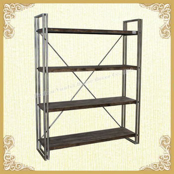 Firm China Fir wooden distressed display shelf