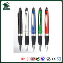 Muti Color 2 in 1 plastic ball pen with stylus screen touch