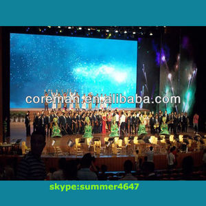 3d technology film use indoor full color stage led curtain display