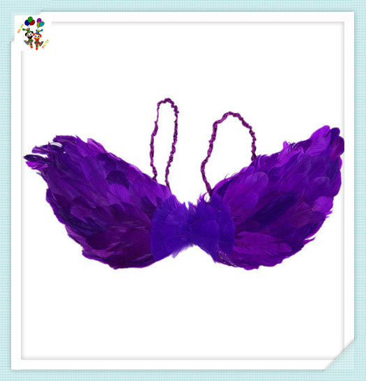 Adult Party Fancy Dress Purple Small Feather Angel Wings HPC-2353