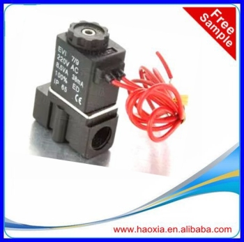 low price normally closed 2way mini plastic solenoid valve gas water air