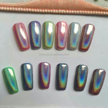 Rainbow pearl holographic pigment holographic nail powder