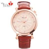 hot sales genuine leather band TADA branded T1005C high quality 3ATM waterproof Japan movement quartz watches