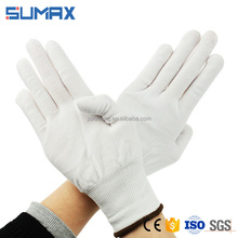 13 Gauge White Cheap Industrial Nylon Knitted Working Gloves