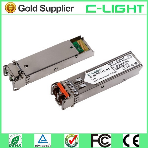 Manufacturer Single Mode SONET OC12 LR - 1 SFP Transceiver Module 1310nm