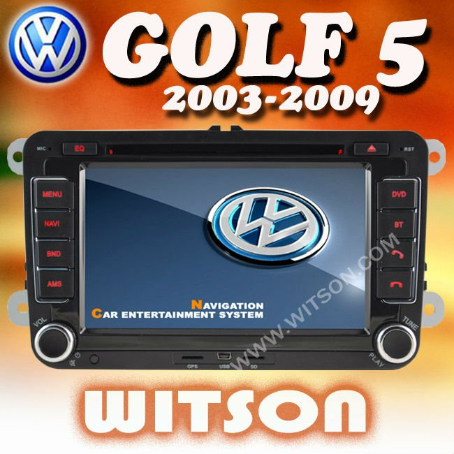 WITSON vw golf 5 car radio gps with USB port and iPod ready
