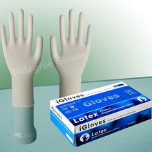 rubber powdered latex examination gloves price good