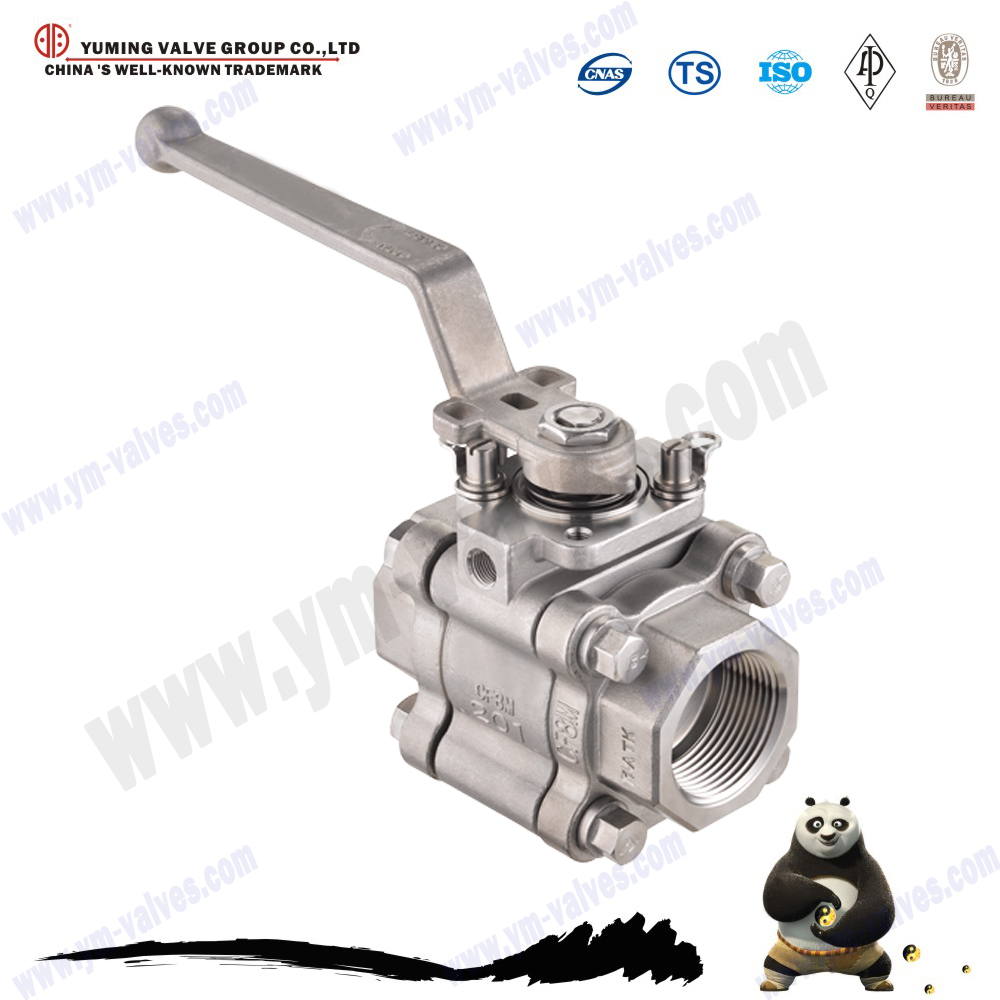 3pc Stainless steel BSP,NPT female,male thread Float ball valve