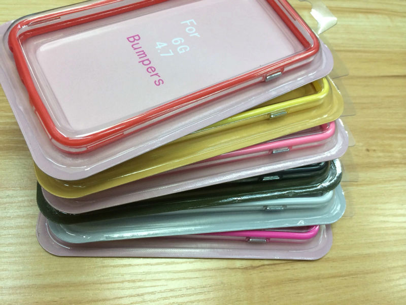 2014 New Model Cover Stylish Bumper Frame Case For iPhone 6 With Front & Back Screen Protector