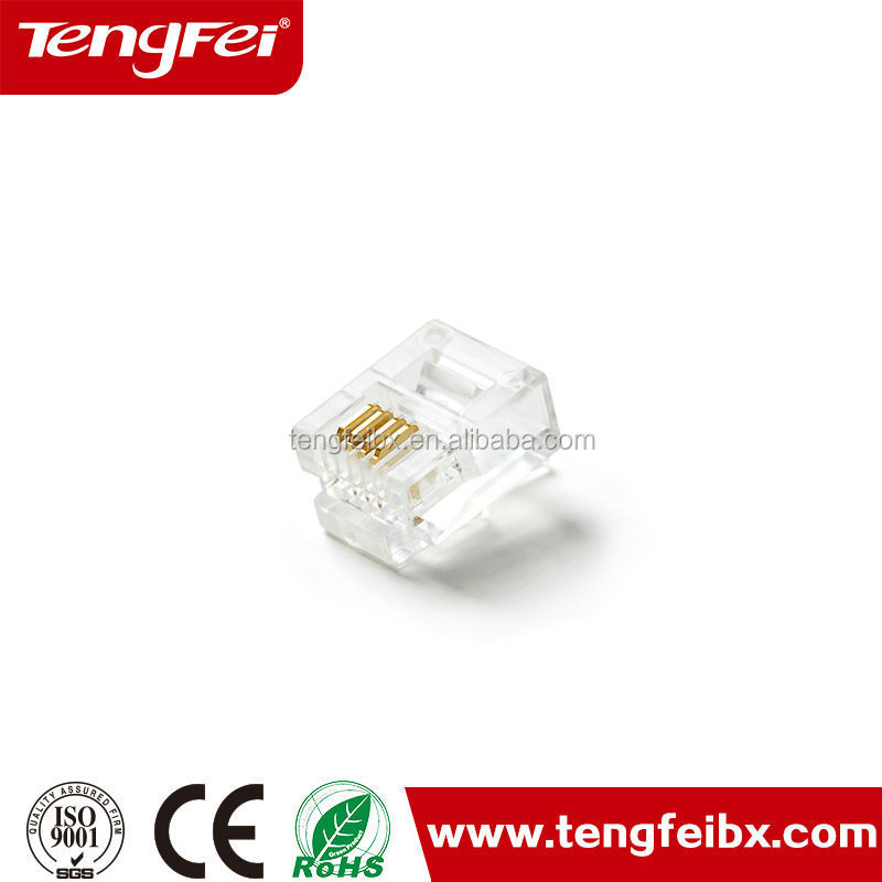 RJ11 Telephone wire connector 6P4C crystal jack