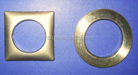 China Flat 50mm Antique Brass Square Metal Curtain Rings