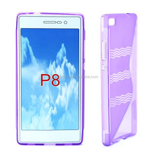 purple color s style phone case cover plastic material hand antiskid phone case with complete models for HUAWEI P8 cellphone