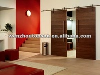 Elegent solid wooden sliding barn MDF door