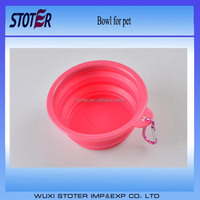 Expandable / Food & Water Collapsible Silicone Travel Bowl for Dog and Cat