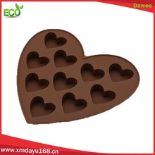 New 10 cavity heart shape Silicone Chocolate Molds, cookie baking mold
