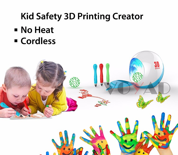 Magic light cure 3d printer pen 3d printing pen 3d doodle pen with 3 colors gel free direct manufacture