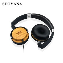 Free Sample Charge shipping fee Wired Bamboo Headsets Cheap Price Headphones