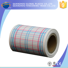 Printing stripe soft touch pe breathable plastic film for adult diaper