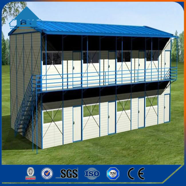 2017 New Design Low Cost Steel Frame Prefab Houses