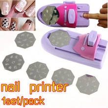 ENNKE 1set/pack Printing Manicure Machine polish Stamper Tool Set Nail Art Printer Diy Color Acrylic Paint Tips
