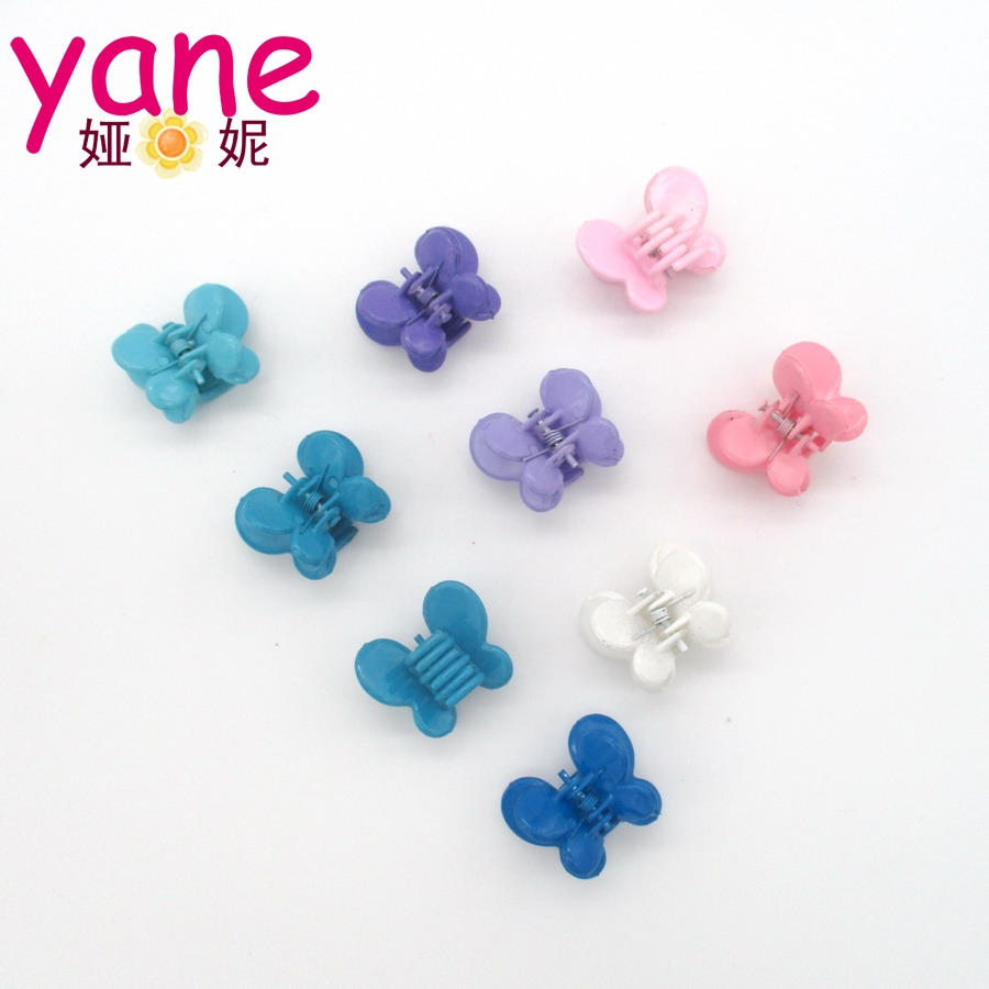 Wholesale baby girls plastic colors butterfly korean hair claw clip