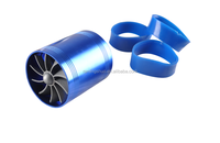 2016 hot sale F1-Z Universal Supercharger Turbo Intake Fan Double Propeller - Blue high quality
